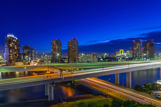 Daiba Cityscape in the Blue