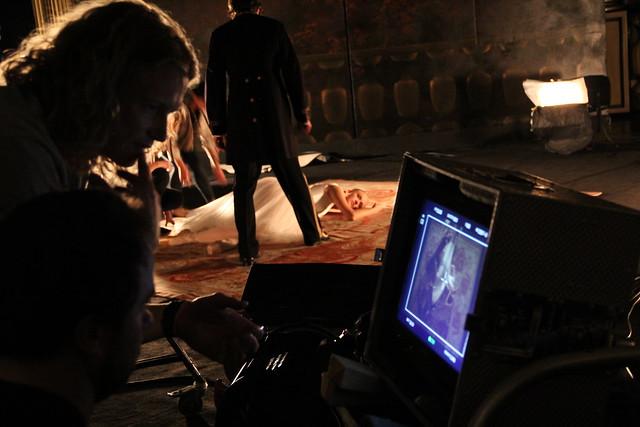 Behind the scenes at the Les Vêpres siciliennes trailer shoot © ROH / Ruairi Watson 2013