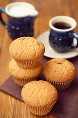 muffin with coffee (pylypchuk1976) Tags: food brown white color cup coffee cake breakfast dinner dessert cuisine baking milk cafe still holidays cookie basket image drink sweet background traditional group objects gourmet indoors drinks bakery snack heat vegetarian pastry muffin foreground delicatessen refreshment