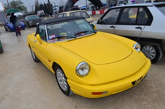 Alfa Romeo Spider 2.0 (benoits15) Tags: old italy classic cars car yellow festival vintage spider italian nikon automobile flickr italia meeting convertible automotive voiture historic retro alfa romeo motor 20 avignon coches cabriolet anciennes worldcars
