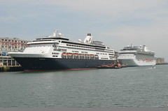 Veendam & Marina (jelpics) Tags: ocean cruise sea boston marina harbor boat justice ship massachusetts vessel tug bostonma barge tugboats cruiseships veendam bostonharbor hollandamericaline hollandamerica massport blackfalconterminal oceaniacruises cruiseportboston