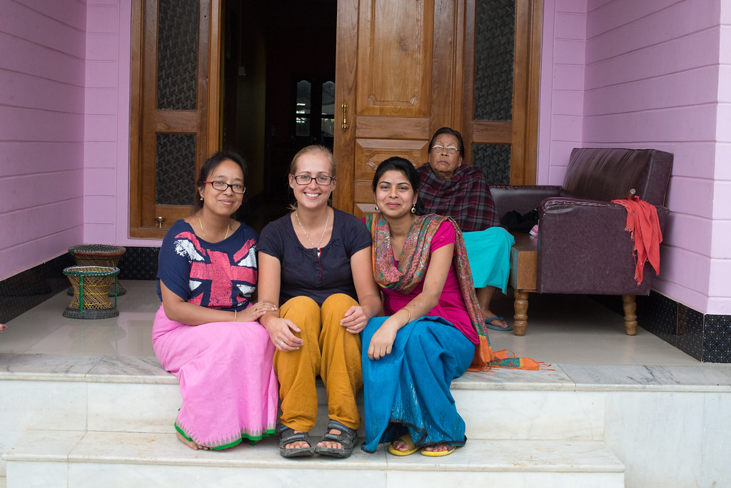 Claire and our hosts in Imphal