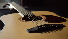 Guitar (iz.andre) Tags: wood music bokeh guitar western acoustic string spruce