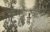 Reflected brothers (sctatepdx) Tags: trees ohio reflections river brothers vernacular ohioriver 1909 rppc oldsnapshot realphotopostcard vintagesnapshot monroealthaus calvinalthaus