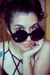 Wink (Nataluxx) Tags: sunglasses portraits selfportraits