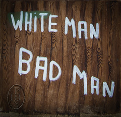 White Man Bad Man, Reporting A Thurgoland Controversy 2 of 4 (PHH Sykes) Tags: park art roy car monkey artist gallery south yorkshire anthony the thurgoland youel