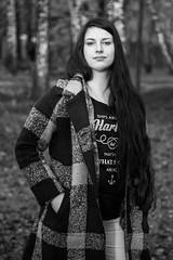 (Sergey Fokin) Tags: portrait bw girl face proud canon hair eos stand looking coat young brunette портрет 6d longhaired лицо чернобелая чернобелое девушка волосы 24105mm брюнетка malakhovka пальто малаховка молодая гордая юная гордо длинноволосая
