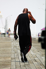 Boardwalk workout (stephencharlesjames) Tags: park county new silhouette nj jersey monmouth boardwalk asbury workout