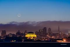 Crescent moon (davidyuweb) Tags: crescent moon  san francisco luckysnapshot sfist palace fine arts transamerica