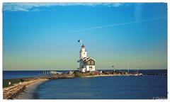 Lighthouse Marken long exposures (titidylan) Tags: mer lighthouse phare marken ile hollande dutch paysbas ciel paysage canon 24105 landscape sea