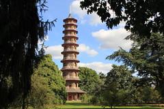 London Londres England Angleterre : Kew Gardens, the pagoda of the Japanese garden, la pagode du jardin japonais, die Pagode des japanischen Gartens. (Histgeo) Tags: london londres england angleterre kewgardens pagoda thejaponesegarden pagode jardinjaponais diepagode derjapanischegarten histgeo