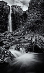 Eas Mor mono (amcgdesigns) Tags: andrewmcgavin eos7dmk2 easmor skye cuillin monochrome waterfall gorge blackandwhite landscape scotland silverefex water glenbrittle mono rocks slowshutter