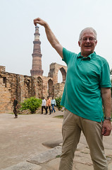 Qutub Dinar - DSC_0030 (John Hickey - fotosbyjohnh) Tags: 2016 holidays october2016 india qutubminar forcedperspective ancient historic traveldepartment travel tourism touristattraction nikon nikond5100 delhi visitors