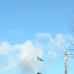 Flag proclaiming the Irish Republic, flying near Ballymakeera, Co. Cork