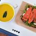 Squash Soup & Smoked Salmon