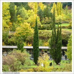 Tranquilidad otoñal en el cementerio de Canfranc. Huesca / Autumnal tranquility in the cemetery of Canfranc. Huesca