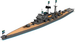 Class Destroyer (Prussian Prince) Tags: ship lego ldd render war pov ray