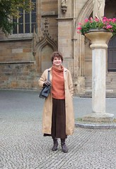 Autumn in Erfurt (Marie-Christine.TV) Tags: feminine transvestite lady mariechristine leather coat ledermantel secretary sekretrin skirt sexy