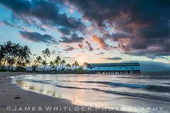 Port Douglas Pier (James Whitlock Photography) Tags: australia queensland port douglas daintree pier jetty sun sunset palm tree wave coast sea beach sand cloud colourful colour lee filters nikon d810 harbour gitzo