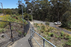 Path and stairs from Linden station to the village road - Blue mountains National Park NSW (nicephotog) Tags: path road stairs ashfelt bitumen way blue mountains national park nsw railing bannister