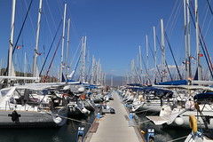 Yachts in Fethiye (cpbs1965) Tags: fethiye yachts boats water sea blue masts turkey waterfront summer
