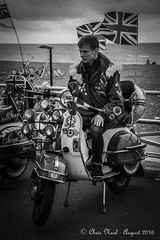 Mod 28.08.2016 (CNThings) Tags: brighton hove sussex mod modern youth scooter sea flag unionjack badge mirror headlight light beach promenade prom seafront channel englishchannel nikon d7100 cnthings chrisneal vespa