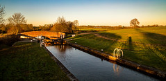 On a walk in the golden hour (Peter Leigh50) Tags: kilby bridge junction canal grand union golden hour sunshine meridian east midland trains water landscape