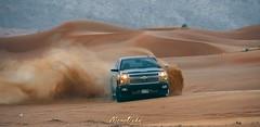 POWER OF SILVAROADO (memoouda) Tags: lexus bmw gmc chevrolet dubai uae desert porsche toyota light nikon نيكون لكزس بورش جمس صحراء دبي