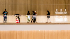Humans Being (DobingDesign) Tags: thedesignmuseum london kensington horizontal lines lighting walking walkway humanbehaviours panels icon design interiorarchitecture architecture abstract