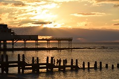 Watching the sunset from the jetty... (karen leah) Tags: sunset dusk aberystwyth