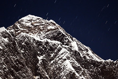 Everest by moonlight (pompie79) Tags: everest mountains himalaya night stars