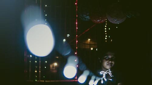 String of Diwali lights