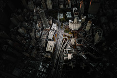 Loopy (Panda1339) Tags: 28mm leicaq summiluxq manhattan nyc architecture cityhall flynyon highway usa aerial