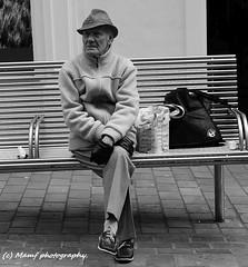 Waiting for his wife. ((c) MAMF photography..) Tags: britain blackwhite bw biancoenero blackandwhite blancoynegro blanco blancoenero city citycentre leedscitycentre england enblancoynegro flickrcom flickr google googleimages gb greatbritain greatphotographers greatphoto inbiancoenero image leeds ls1 mamfphotography mamf monochrome nikon noiretblanc noir negro north nikond7100 northernengland onthestreet photography photo pretoebranco people schwarzundweis schwarz street town uk unitedkingdom upnorth westyorkshire yorkshire zwartenwit zwartwit zwart
