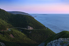 5IMG0499 The Cabot Trail into the sunset (Glenn Gilbert) Tags: highlands highway highways horizontal image images island islands landmark landmarks landscape landscapes maritime maritimes motorway motorways national nature nova np ocean oceans outdoor outdoors outside park parks photos reserve reserves road roads saint scenery scenic scenics scotia sea seas seascape seascapes shore shoreline shorelines shot st strandline street streets tourist trail travel view views vista vistas water sunset evening novascotia canada capebreton nationalpark skyline