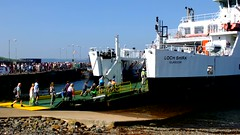 Scotland Largs a hundread plus foot passengers boarding car ferry Loch Shira for the island of Cumbrae 16 August 2016 video by Anne MacKay (Anne MacKay images of interest & wonder) Tags: scotland largs foot passengers boarding caledonian macbrayne car ferry loch shira 16 august 2016 video by anne mackay