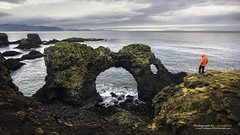 Gatklettur Stone Arch, Iceland (Alongkot.S) Tags: adventure animal beach beautiful budir change climate clouds coast cold color destination drama dream dreamlike environment europe gatklettur iceland imagination island landscape life national nature nordic ocean outdoor outside park raw remote scandinavia scenic sea seascape secluded sky snaefellsnes solitude surf vacation view vista volcanic water waves weather wilderness wonderful world