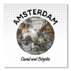 Graphic Art AMSTERDAM Canal and Bicycles (american_flat) Tags: amsterdam architecture attraction bridge building city clouds cloudy dutch europe famous gentlemens canal herengracht historic house landmark megacity netherlands old town plants popular river shoreline sight sightseeing tulip urban water flower boat ship sun rays bike bicycle vintage composing collage doubleexposure modern decorative abstract graphic illustration mixedmedia circle niederlande