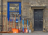Garden implements (Tim Green aka atoach) Tags: window brush rake shovel spade hardware gardening otley