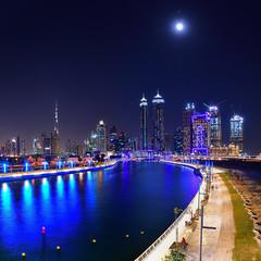 Dubai Canal (|MBS-..|) Tags: nikon d500 cityscape moon burj khalifa canal dubai