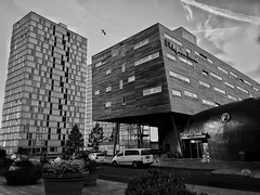 Structures (puliMexNed) Tags: buildings structures empty streetphotography streetphotographyblackandwhite blackwhite bnw blackandwhitephotography almere