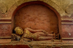 Bagan, Myanmar (DitchTheMap) Tags: architecture seasia statue ancient asia asian bagan belief buddha buddhism buddhist burma burmese candlelight collect culture flickr image interior man meditation monastery morning myanmar novice old person portrait prayer reclining red religion religious robe rustic senior shwesandaw sleep small southeast temple tradition traditional worship young