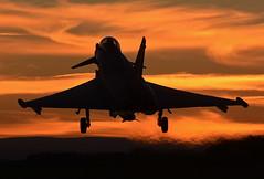 Sunset Typhoon (np1991) Tags: royal air force raf lossiemouth lossie moray scotland united kingdom uk nikon digital slr dslr d7100 camera sigma 50500mm 50 500 50500 bigma lens aviation planes aircraft eurofighter typhoon fgr4 6 squadron six flying can openers sun set sunset