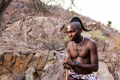 Unmarried Himba Man 4034 (Ursula in Aus) Tags: africa namibia offcameraflash himba portrait male