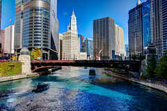 Chicago River dyed blue for Cubs World Series championship parade (Trump Tower and Wrigley Building) (spudart) Tags: 2016 2016cubsparade 2016worldseries 360northmichiganavenue 400nmichigan 401northmichiganavenue 401northwabash 410nmichigan 60601 60611 alfredsalschuler blueriver charlesgbeersman chicago chicagocubs chicagoriver chicagoriverdyedblue cubs downtown equitablebuilding frenchrenaissance grahamandersonprobstwhite hdr highdynamicrange highdynamicrangephotography illinois londonguaranteebuilding londonguaranteeandaccidentbuilding londonhouse magnificentmile michiganavenue nearnorthside skidmoreowingsmerrillllp skidmoreowingsandmerrill trumpinternationalhotelandtower trumptower usa wabashavenue wabashbridge worldseries wrigleybuilding wrigleycompany bluedye bluedyedchicagoriver bride building built1922 built1923 built1965 built2009 chicgoriver river skyscraper terracotta water picked