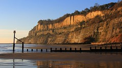 Coast at Shanklin - Isle of Wight 021116 (2) (Richard Collier - Wildlife and Travel Photography) Tags: isleofwight shanklin coastal coastallandscape coastalcliffs southcoast seascape groynes landscape