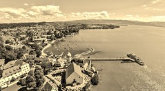 Wasserburg (Bodensee) (rudolphfelix) Tags: bodensee wasserburg special perspective sepia lightroom water gopro hero hd 2 flug luftaufnahme landscape landschaft lake wolken sky clouds evening felix rudolph fotografie photografie dji phantom image outdoor photography deutschland germany drone quadrocopter quadro copter high