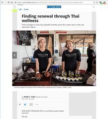 Toronto Star - Online - Nov 24 2016 - Thai Wellness 9 (Renée S. Suen) Tags: newspaper torontostar thetorontostar byline november2016 thailand travelsection startravel wellness