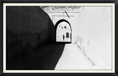 The Guard (The Spirit of the World) Tags: palace guard morroco marrakesh walls old northafrica africa royalty bw analogphotography film print