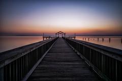 dawn (kderricotte) Tags: dawn sunrise sonya6000 neutraldensityfilter leebigstopper longexposure 1018mm pier water outdoor walkway bridge structure